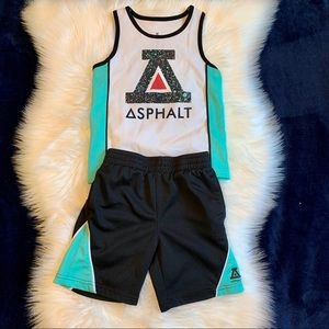 Asphalt Yacht Club Tank & Shorts set. Toddler 4T